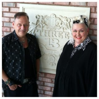 Lester & Leslie Crowell in front of Thee-13, Spa & Boutique in Marietta, Georgia