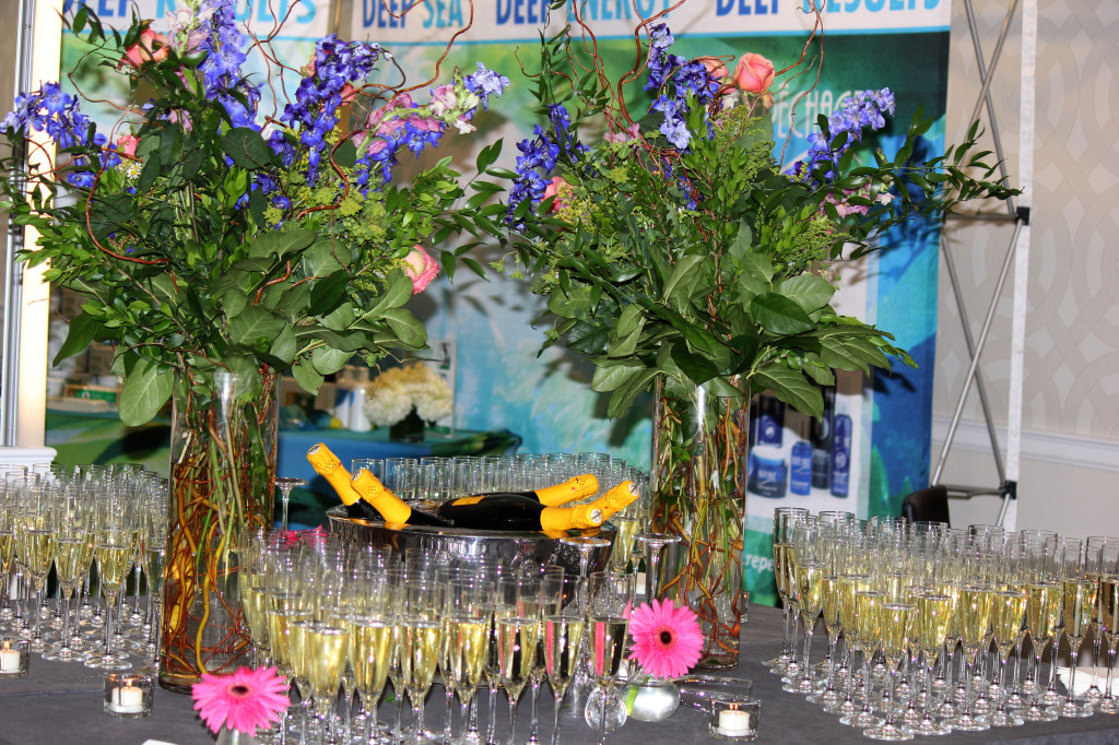 (Champagne and chocolate covered strawberries greeted guests during the break at the 17th Annual International Conference May 18)