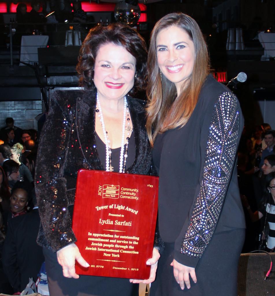 JICNY_Sarfati with Jessica Abo Reporter for NY1News and Consultant for JICNY