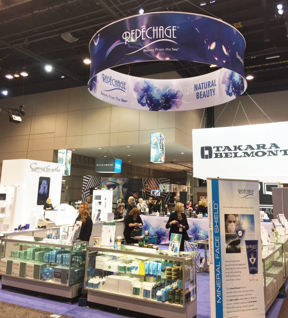 The Repêchage booth at America's Beauty Show 2016