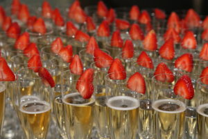 Champagne and strawberries greeted guests during the break at the 18th Annual International Conference May 2