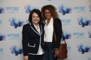Odalisa Dominguez, Founder and Owner of Spa O on the Go winner of the Rising Star Award with Lydia Sarfati