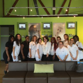 sarfati-with-students-of-tricoci-university-of-beauty-culture